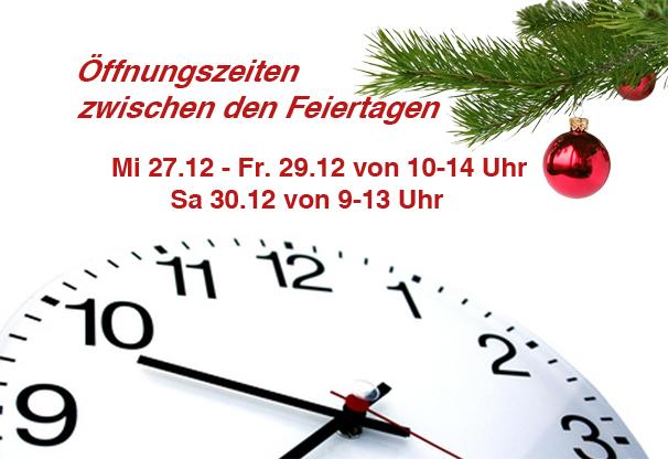 öffnungszeitenweihnachten
